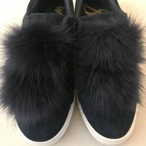Shoes - Sam Edelman Leya Pom pom Sneakers Size 7.5